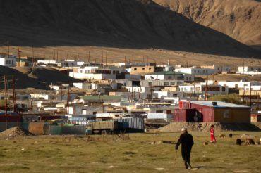 Murgab panorama of houses in Pamir Highway tour