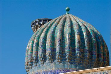 Samarkand, blue dome, Uzbekistan