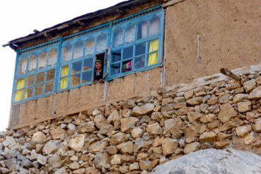 Village houses in Tajikistan Fann mountains