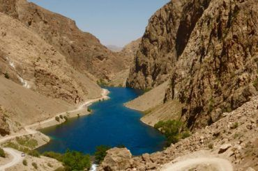 one of the Seven Lakes in Tajikistan travel