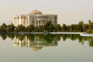 Presidential palace in Dushanbe, tajikistan capital
