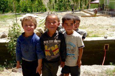 Kids Fann mountains Tajikistan education