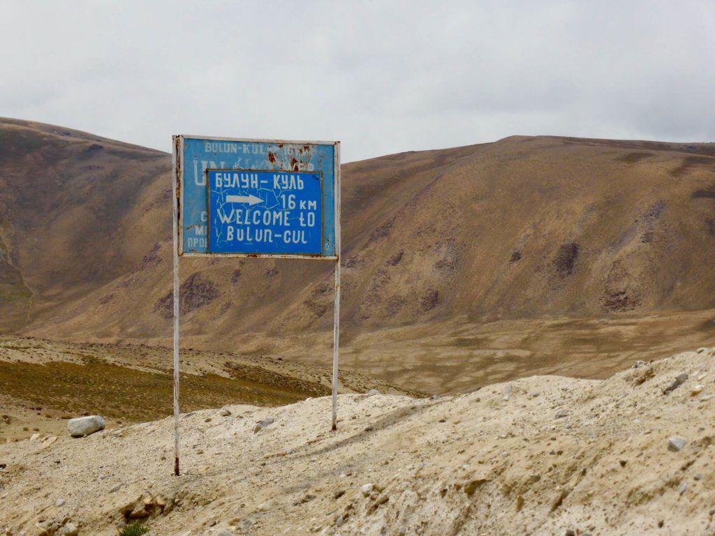Bulunkul Road sign