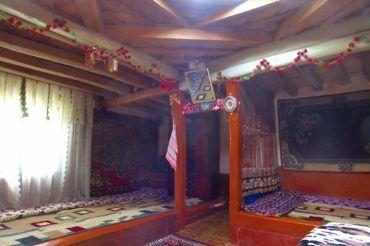 Traditional Pamir house, tajikistan central asia