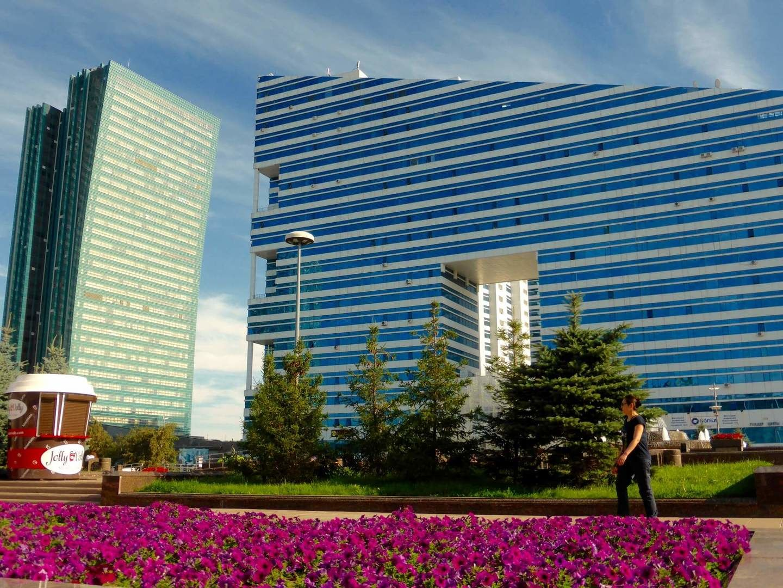Astana, blue apartments