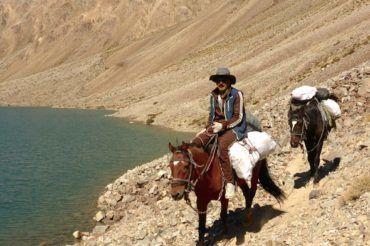 Horse riding in Pamir Tajikistan
