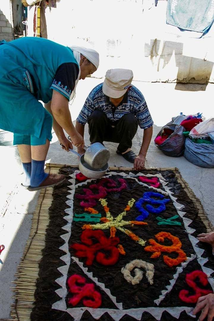 Central Asian Ornaments, felt making