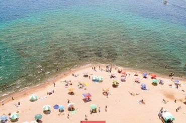 Kyrgyzstan beach, Issyk Kul swimming
