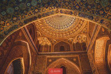Tilya Kori, golden building, Samarkand