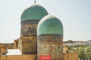 Samarkand, Uzbekistan, Shahi Zinda domes