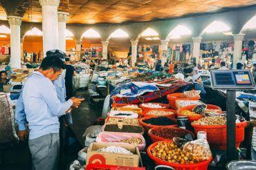 Tajikistan bazaar, shopping