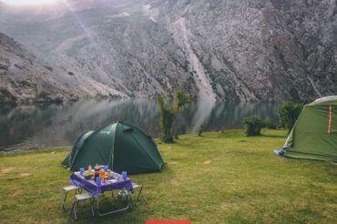 Tajikistan camping, Hazorchashma, Fann