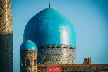Uzbekistan, blue domes