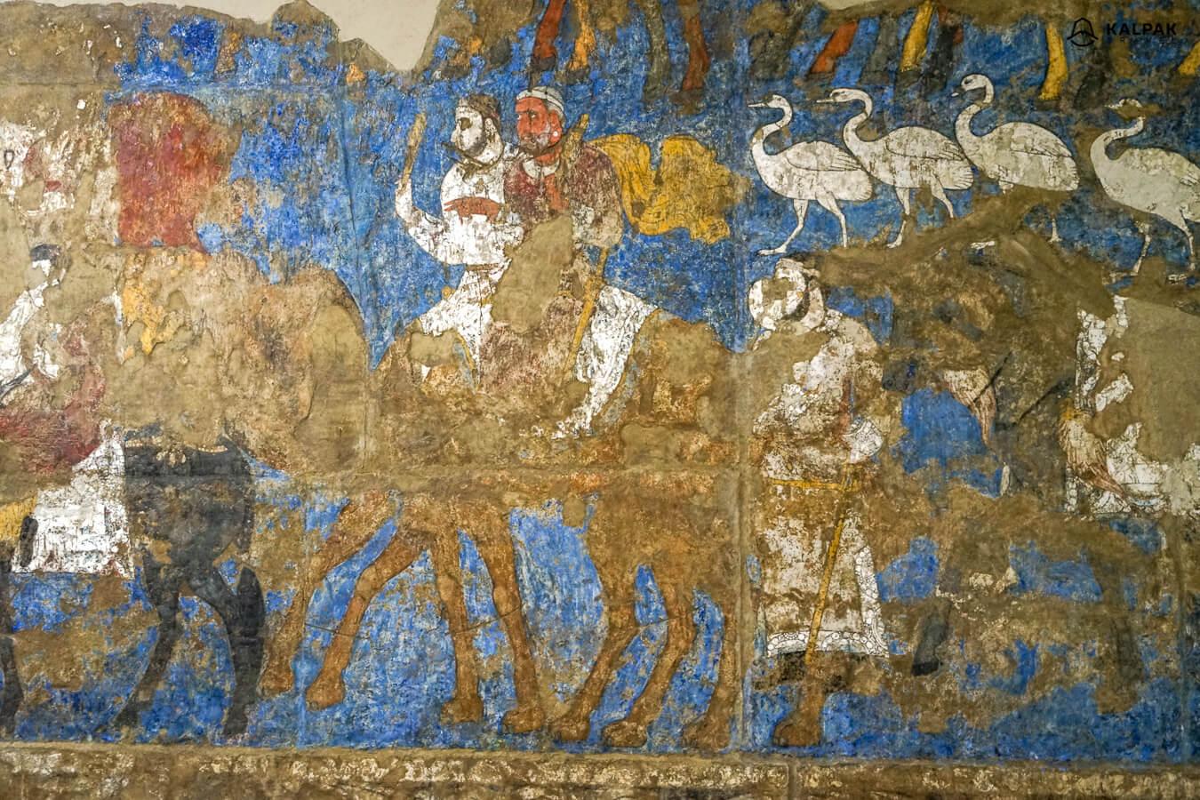 Afrosiab murals in Samarkand