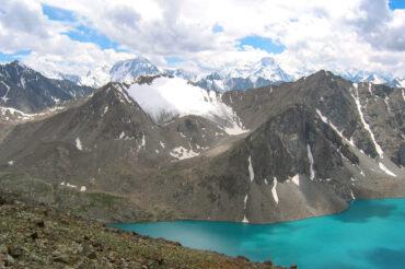 Ala Kol trekking lake in Kyrgyzstan