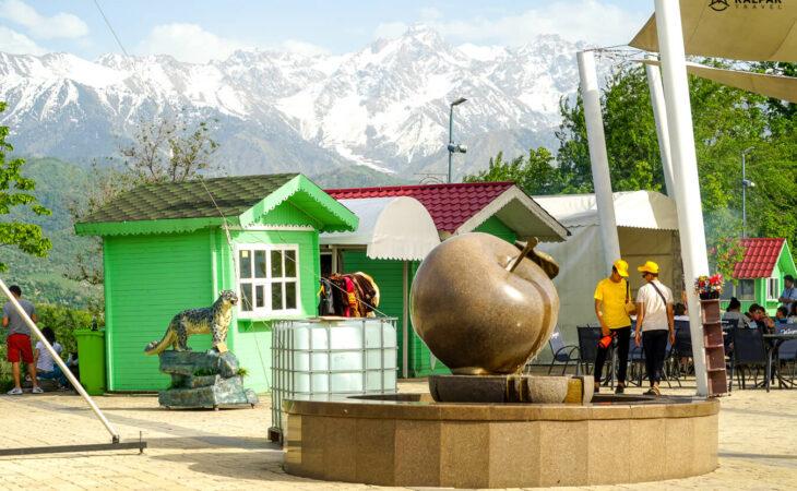 Kok tobe hill in Almaty
