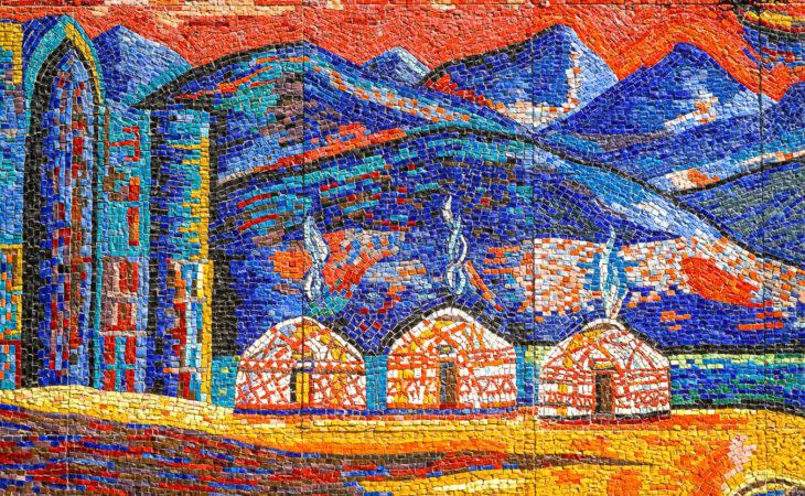 Mosaics in Almaty