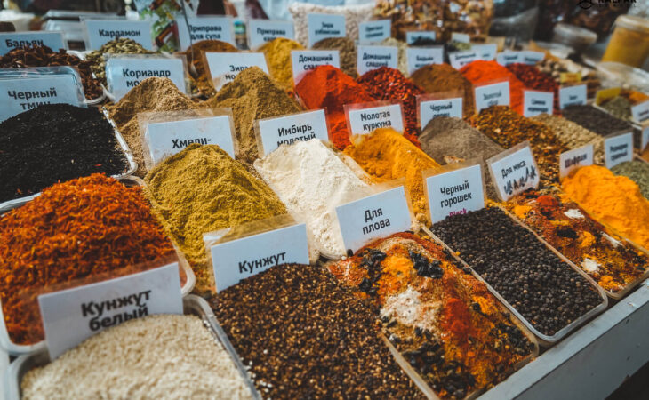 Spices in Almaty green bazaar