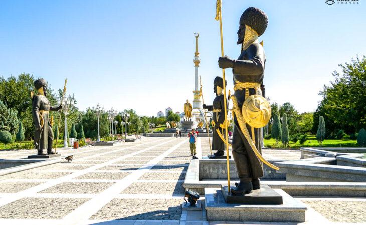 Ashgabat statues in Turkmenistan
