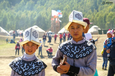 Boys in Kalpak hats