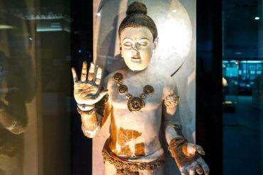 Buddha statue in Tashkent museum