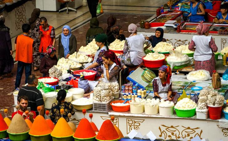 Dushanbe bazaar in Tajikistan