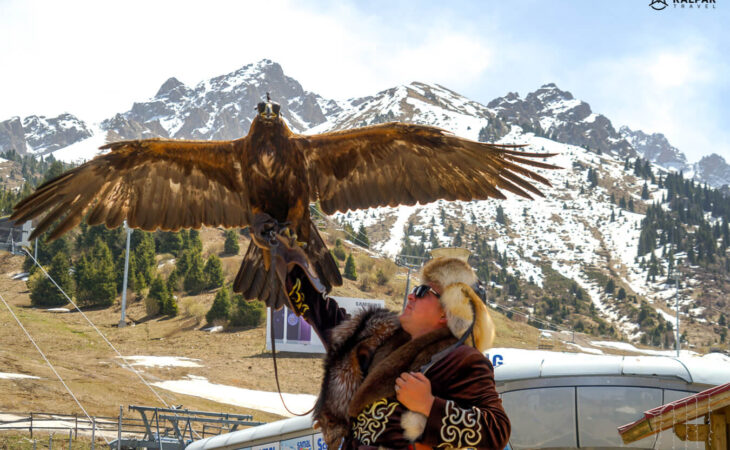 Eagle hunter in Kazakhstan