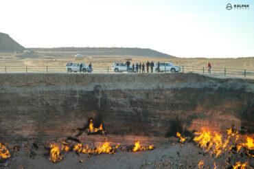 Gas crater in Turkmenistan