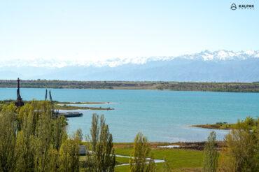 Issykkol lake in Kyrgyzstan