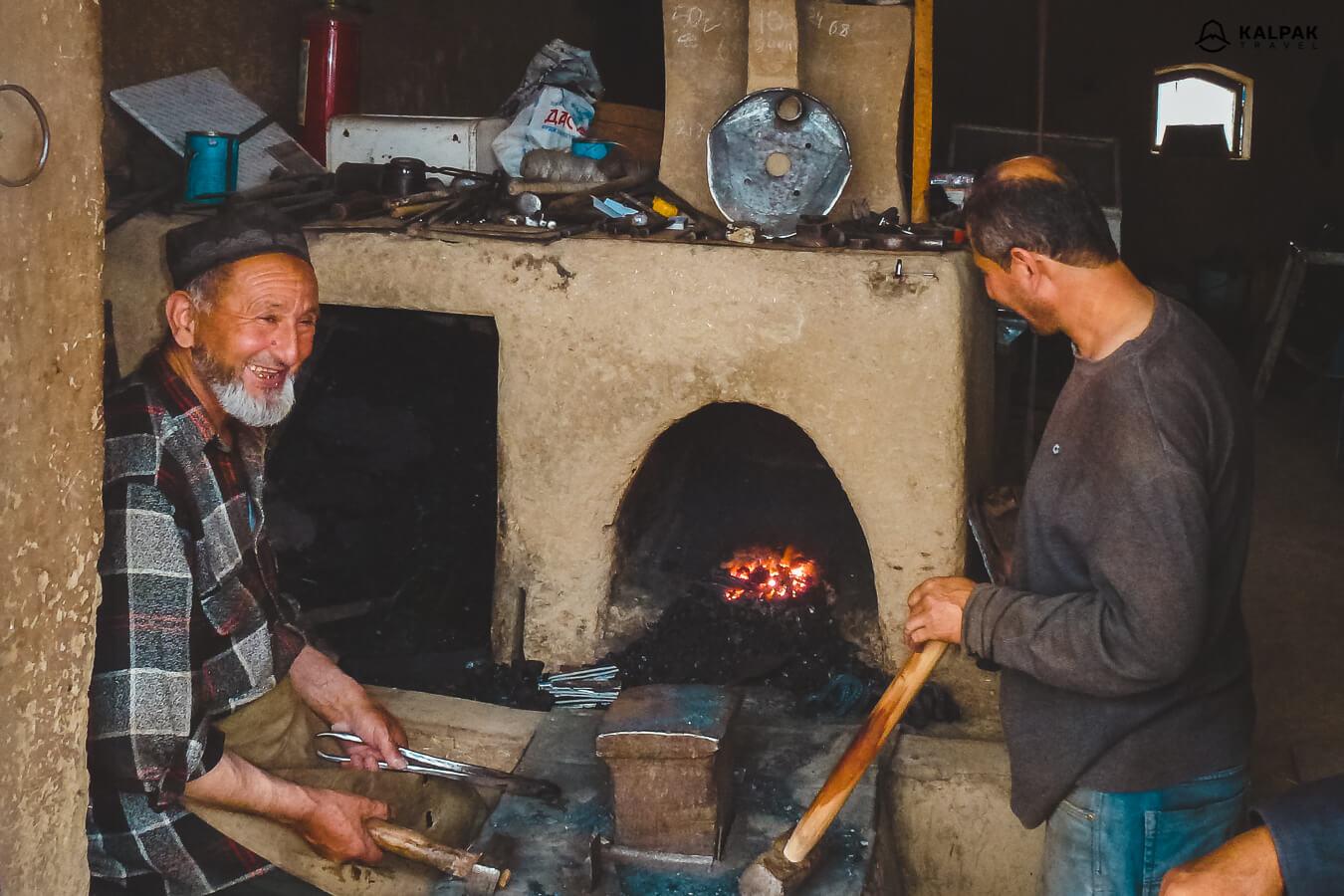 Blacksmith in Istaravshan