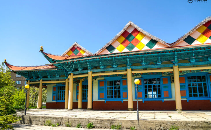 Karakol wooden mosque in Kyrgyzstan
