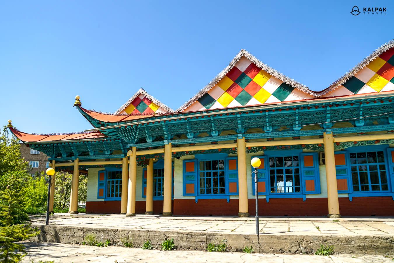 Karakol wooden mosque in Kyrgyzstan