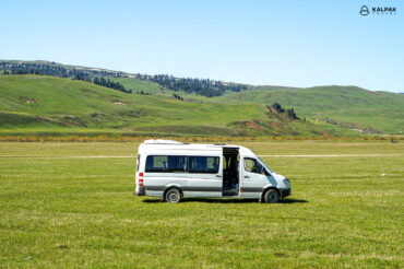 Transport bus in Kyrgyzstan called marshrutka