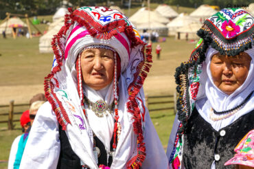 traditional people with women hat