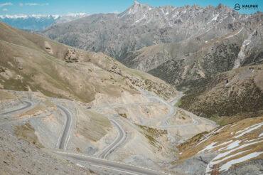 Kyrgyzstan serpantine mountain road