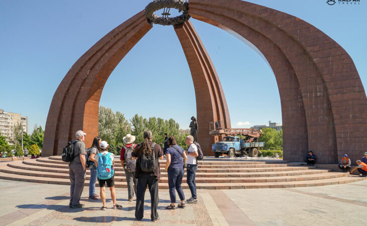 Kyrgyzstan tour with group of people