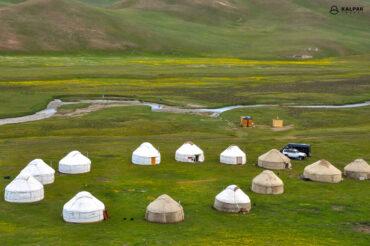 Yurt camp in Kyrgyzstan