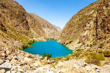 Seven lakes in Tajikistan