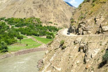 Pamir highway narrow roads