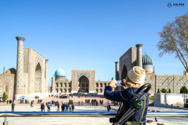 Registan photographed by tourist