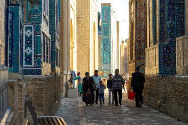 Samarkand blue tile passages