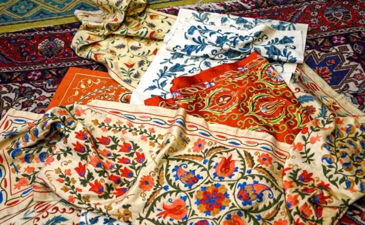 suzani embroidery in Uzbekistan