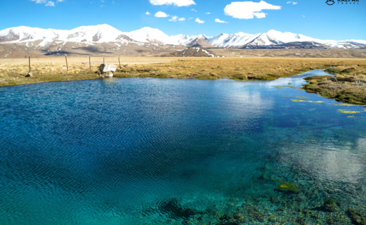 holy lake in the Pamirs