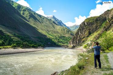 Panj river in Tajikistan