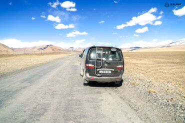 Paved road in Tajikistan