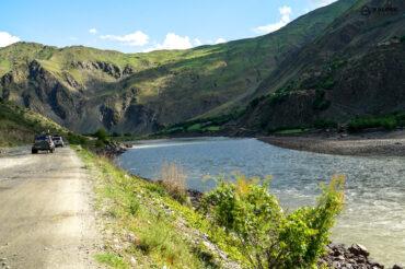 Road condition in Tajikistan