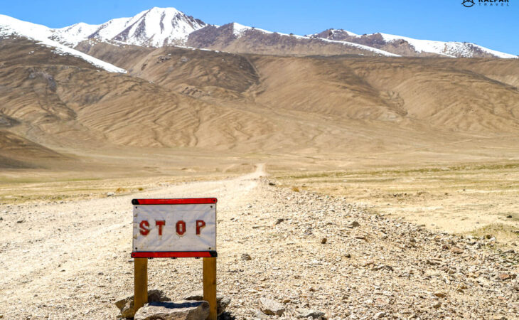 Road sign in the Pamir