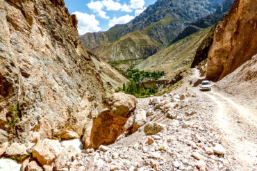 Roads in the Fann mountains