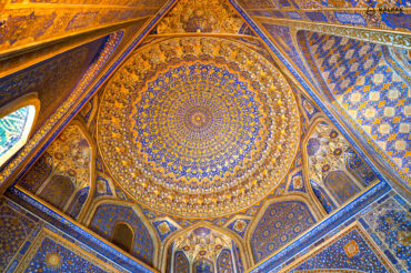 Tilla Kori golden roof in Registan