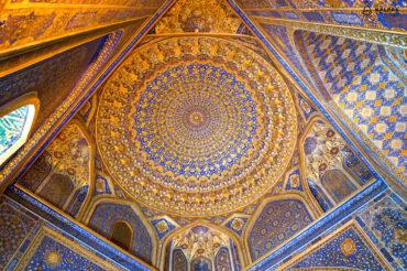 Tilla Kori golden roof in Registan